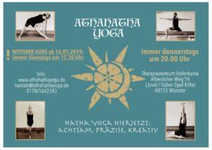 athahatha yoga muenster poster kurse hafenkante